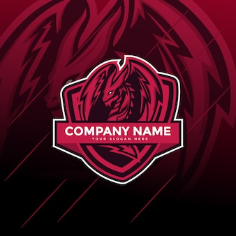 Dragon e sport gaming mascotte logo