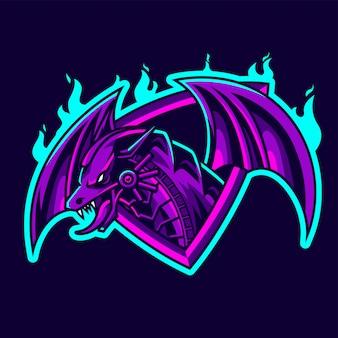Dragon e-sport mascotte