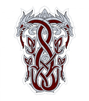 Dragon embleem gebruikt door de vikingen