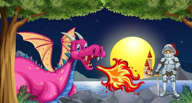 Dragon en knight