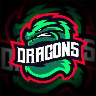 Dragon esport mascotte gaming-logo