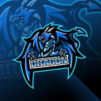 Dragon esport mascotte logo ontwerp