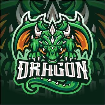 Dragon esport mascotte logo