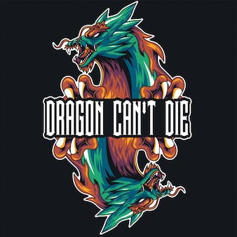 Dragon head illustratie