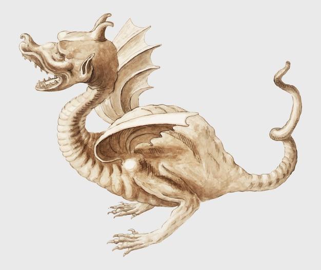 Dragon in vintage stijl