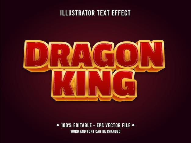 Dragon king bewerkbare teksteffectsjabloon