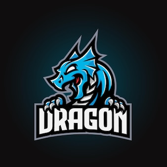 Dragon mascot esport-logo