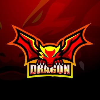 Dragon mascotte esport illustratie