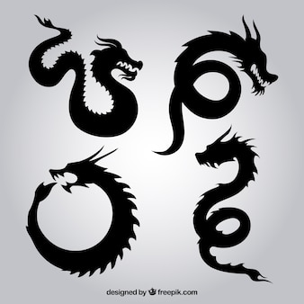 Dragon silhouetten