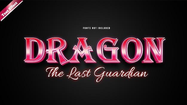 Dragon-teksteffectsjabloon met bewerkbaar lettertype-effect in 3d-stijl