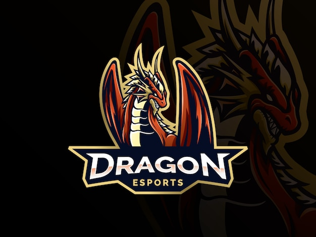 Dragon vector logo sjabloon