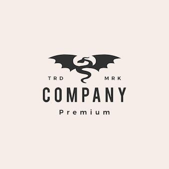 Dragon vleugel hipster vintage logo
