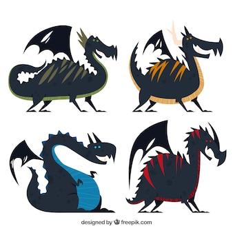 Drakencollectie in zwarte kleur