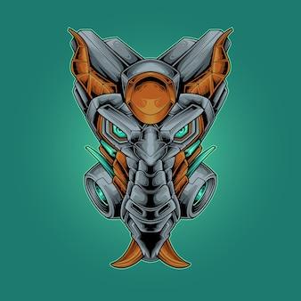 Drakenkop vectorillustratie
