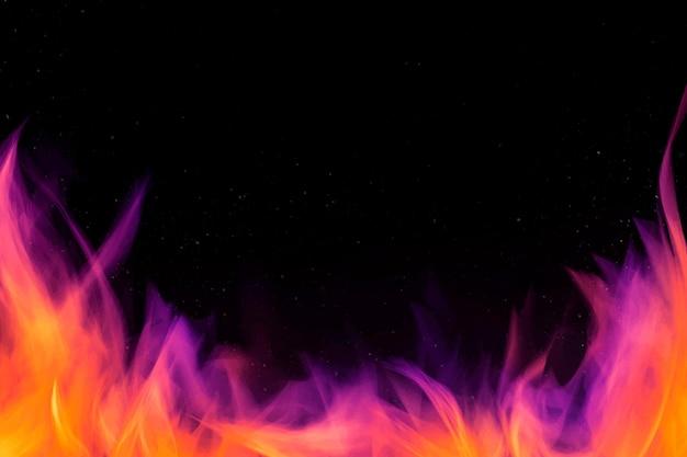 Dramatische vuurvlam grenskader
