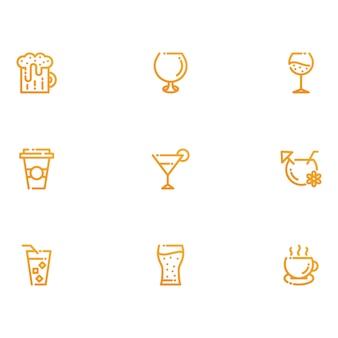 Drank en drankjes pictogrammen