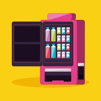 Drankautomaat met elektronische open-deurmachine