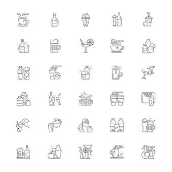 Dranken en drank pictogramserie