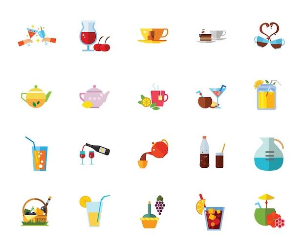 Dranken pictogramserie