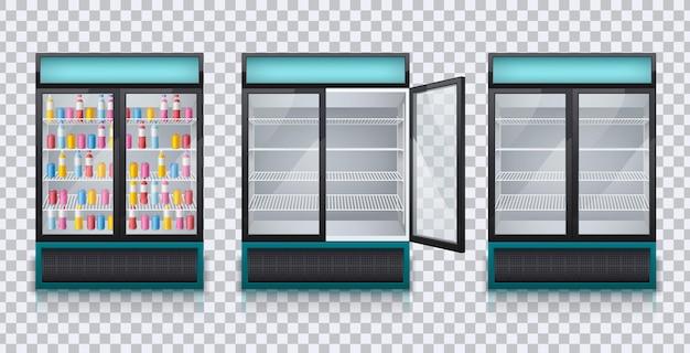 Drankjes koelkasten ingesteld
