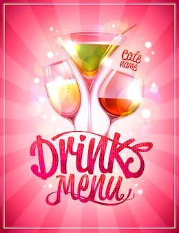 Drankmenu met cocktails