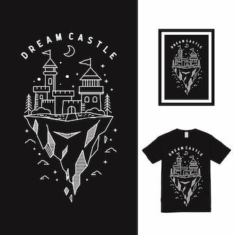 Dream castle high line art t-shirtontwerp