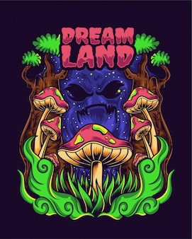 Dream land illustratie