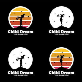 Dreamer kind logo ontwerpset