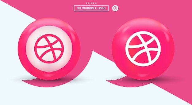 Dribbble-logo door moderne social media-logo's