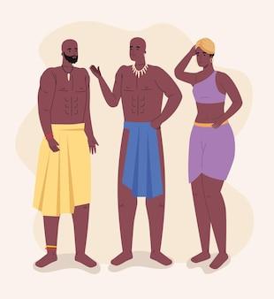 Drie afrikaanse aboriginals