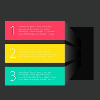 Drie banners donker template infograph