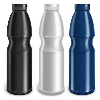 Drie flessen vector
