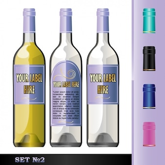 Drie flessen voor drankjes
