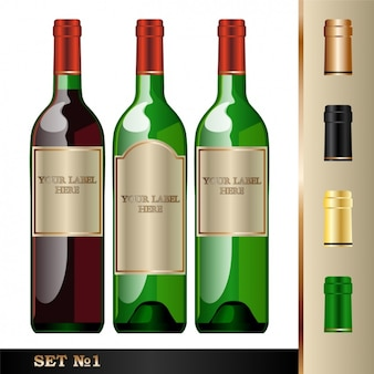 Drie flessen wijn