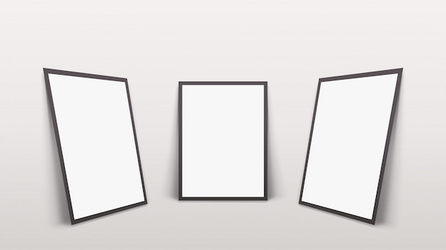 Drie frames met schaduwen op de muur
