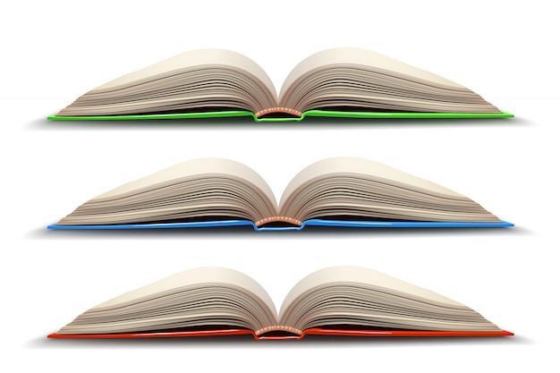 Drie geopend boek