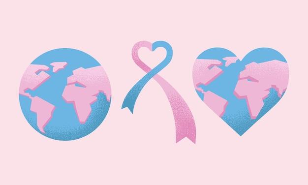 Drie iconen van de wereld seksuele gezondheid dag