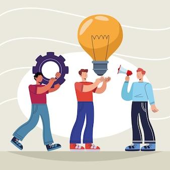 Drie innovatieve mannenpersonages