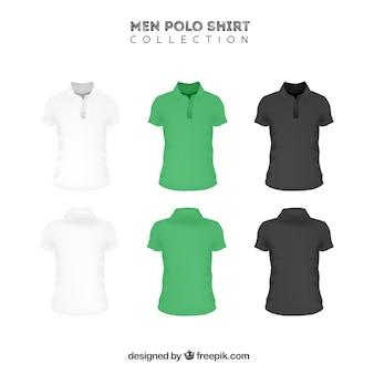 Drie kleuren mannen polo shirt collectie
