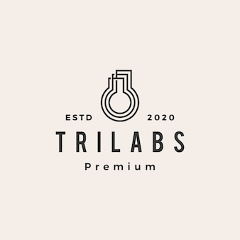 Drie labs hipster vintage logo