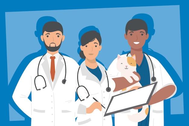 Drie medische professionals werknemers