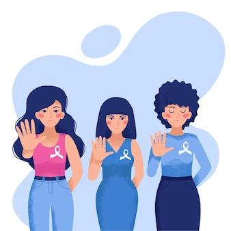 Drie meisjes worden geconfronteerd met geweld