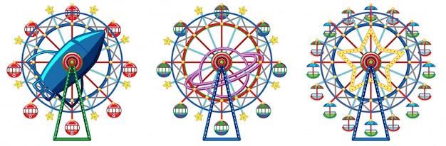 Drie ontwerpen van reuzenrad