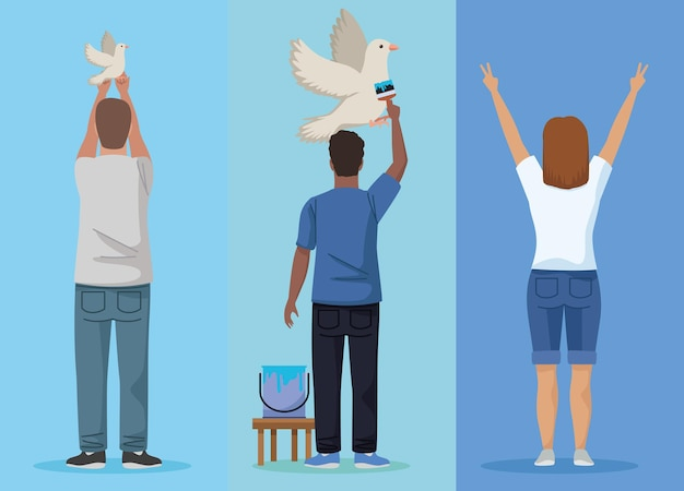 Drie pacifistische karakters