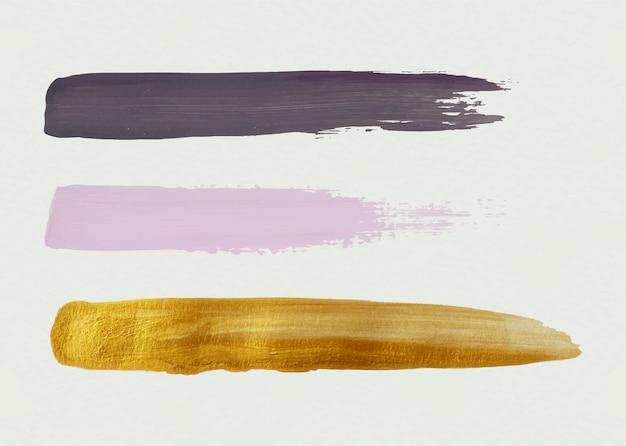 Drie penseelstreken