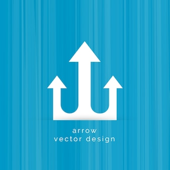 Drie pijlen symbool vector ontwerp