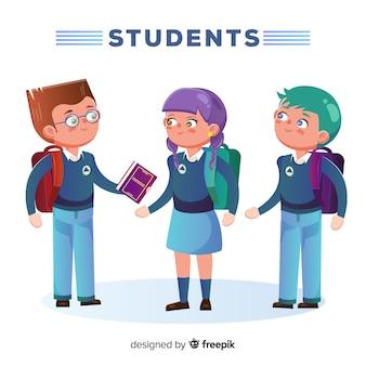 Drie studenten