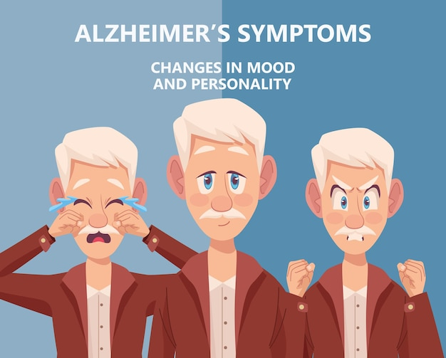 Drie symptomen van alzheimer