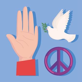 Drie vredespictogrammen