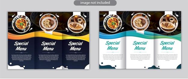 Driebladig brochuresjabloonontwerp met moderne stijl en minimalistisch lay-outconcept